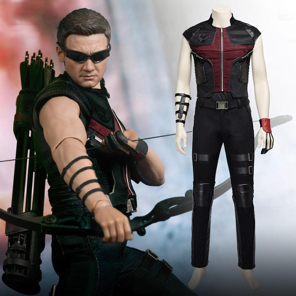 The Avengers Hawkeye Cosplay Costume Full Suit Any Size