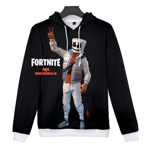 Game Fortnite Royale Battle Marshmello Cosplay Sweater