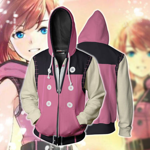 Kingdom Hearts III Kairi Pink Zip Up Hoodie Jacket