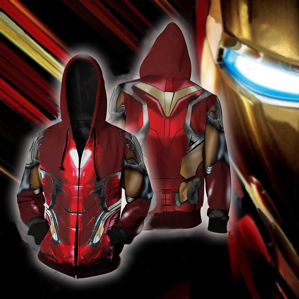 Avengers Endgame Iron Man Cosplay Costume Movie Hoodie Sweatshirts