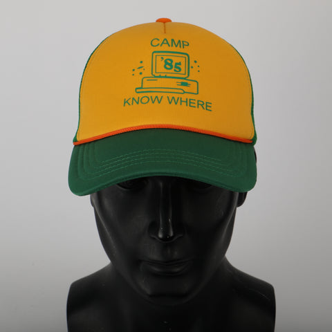 Stranger Things 3 Dustin Hat Retro Mesh Trucker Cap Yellow Green 85 Know Where Adjustable Cap Gifts Halloween