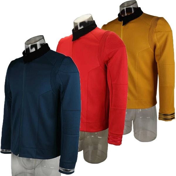 Star Trek Discovery Season 2 Starfleet Captain Kirk Shirt Uniform Badge Costumes Men Adult Halloween Cosplay Costume