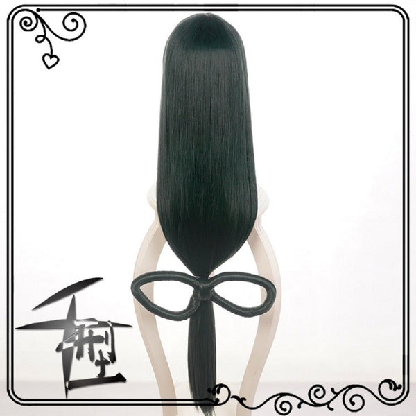 Boku no Hero Academia Tsuyu Asui Cosplay Wig My Hero Academia Women Long Green Synthetic Hair Halloween Party +Wig Cap