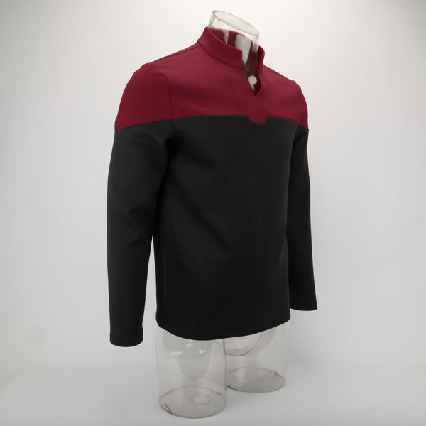 2019 Star Trek Picard Startfleet Uniform New Engineering Red Top Shirts Halloween Cosplay Costume