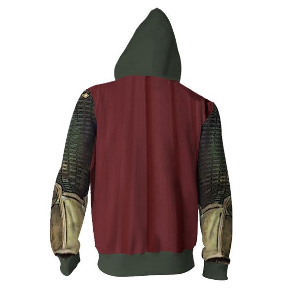 Spider-Man Far From Home Mysterio Hoodie Cosplay Costume Thor Sweatshirts Jacket Coat