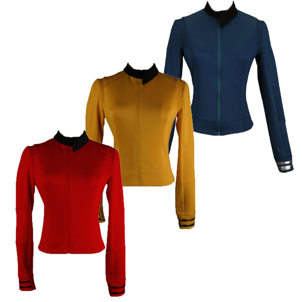 Star treks Discovery Season 2 Costume Female Commander Uniform with Badge Woman Cosplay Costume