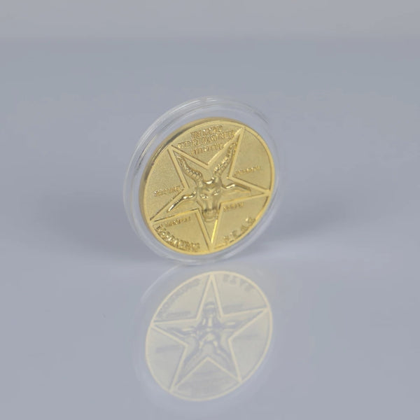 Lucifer Pentecostal Coin Silver&Gold Coin High Quality Brand Sale Cosplay Accessories Movie Costume Prop For Fans