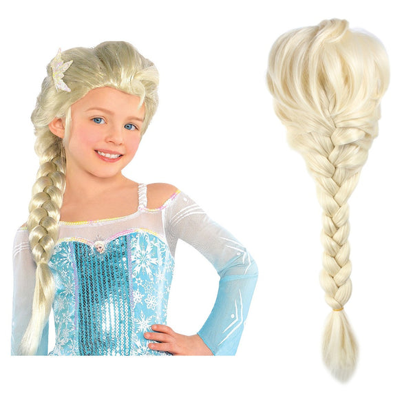 2019 Frozen Princess Elsa Anna Girl Wig Halloween Cosplay Hair
