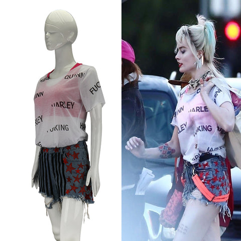 Birds of Prey Harley Quinn Suicide Squad Cosplay Costumes Vest Short Pants T-Shirt Woman Halloween Costume Party Prop