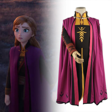 Frozen 2 Snow Queen Anna Elsa Princess Cosplay Costume Outfit Full Set Halloween Costumes Fancy Dress Children New