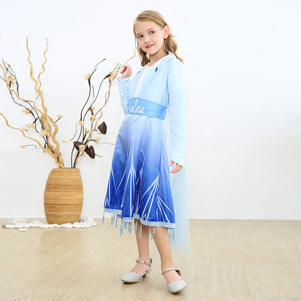 Frozen Princess Elsa Dress for Girls Clothing Wear Cosplay Elza Costume Halloween Christmas Party Gift Fancy 4-10y Baby Girl