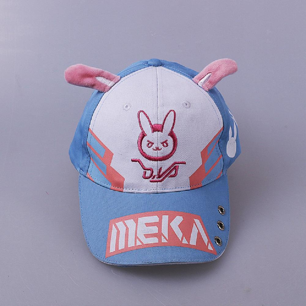 Game Overwatch DVA Baseball Hat D.VA Casual Fashion Cartoon Cap