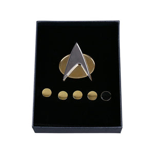 Star Trek TNG The Next Generation Metal Badges Pin&Rank Pip/Pips 6pcs Set Cosplay Prop