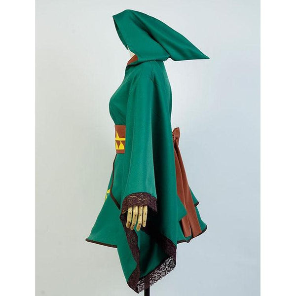 The Legend of Zelda Skyward Sword Female Link Cosplay Suit Outfit Dress Costume