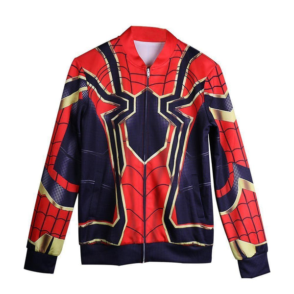 2018 Avengers Infinity War Spider-Man  Cosplay Coat Baseball Jacket