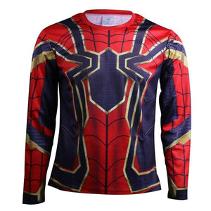 2018 Avengers Infinity War Spider-Man T-Shirts Cosplay Costume
