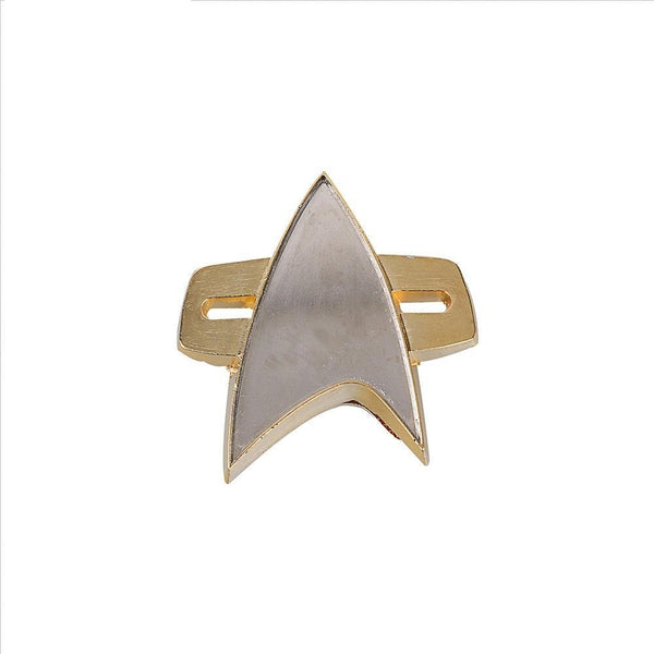 Star Trek TNG Next Genenation Badge Voyager Communicator Badge Pin Brooch  2 Badges