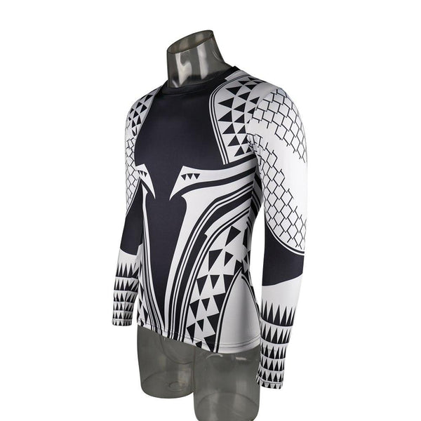 Aquaman Compression Shirt Man 3D Printed T Shirts Comics Cosplay Costume Long Sleeve Tops