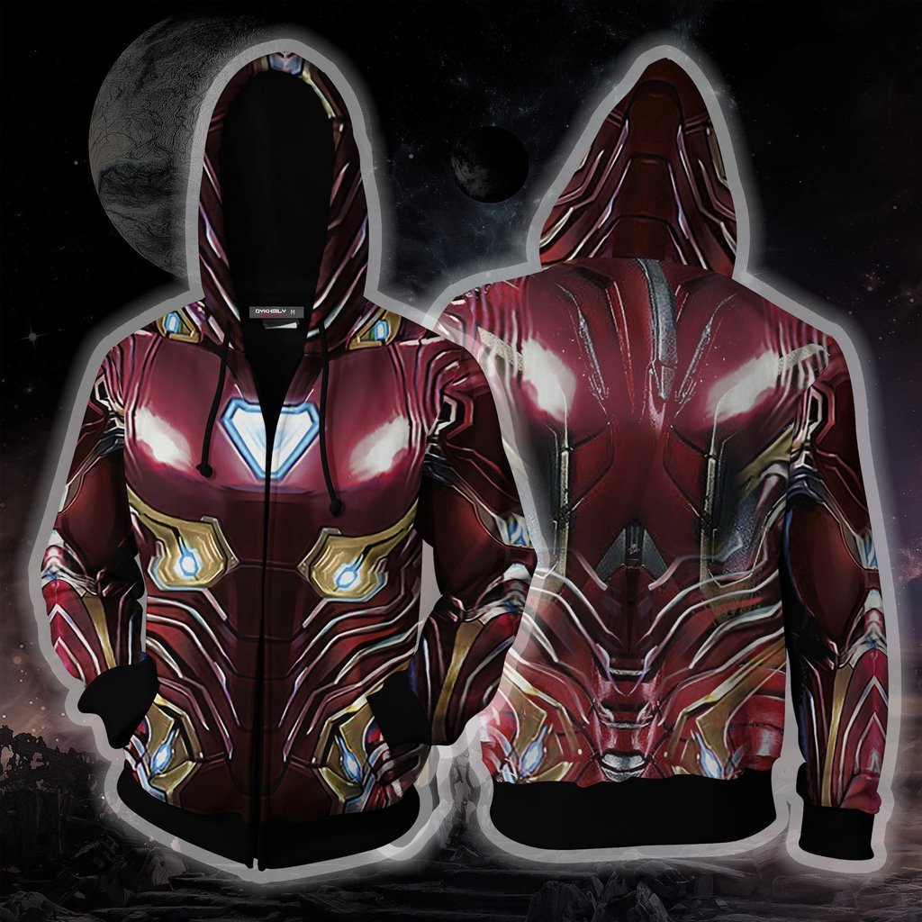 2019 Avengers: Endgame Tony Stark Hoodie Cosplay Costume Iron Man Sweatshirts Jacket Coat