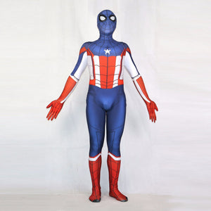 Captain America Spider-Man Superhero Bodysuit Suit Jumpsuits Halloween Cosplay Costume