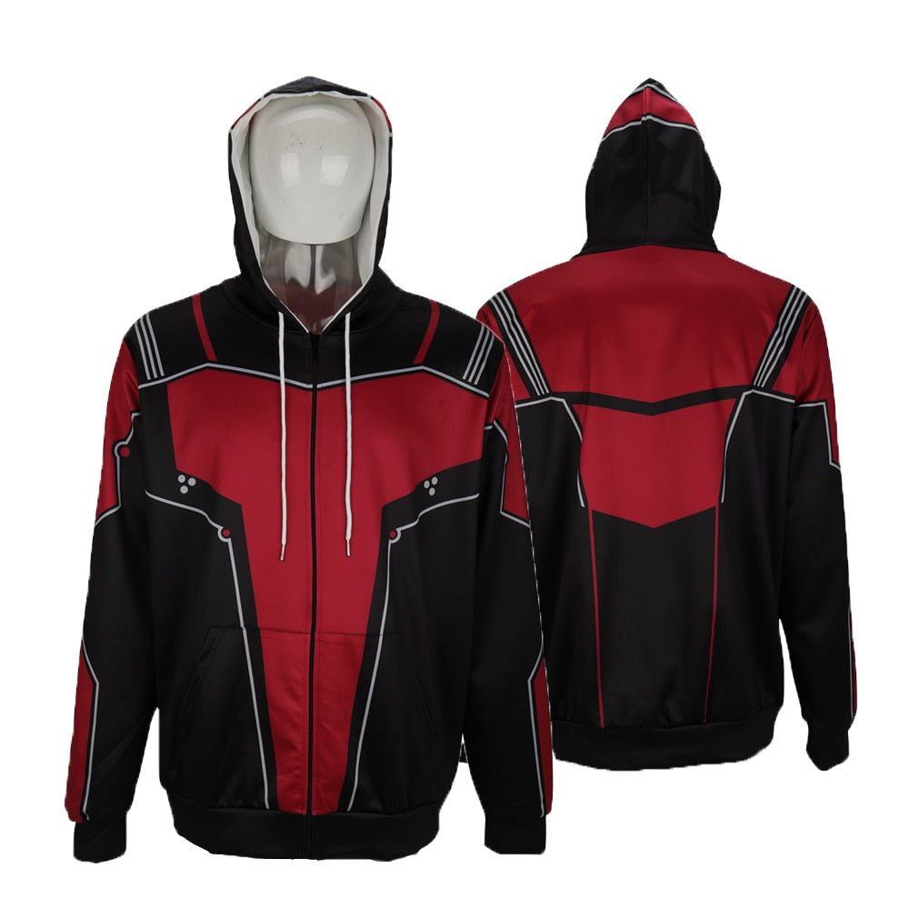 2019 Movie Avengers: Endgame Antman Hoodies Cospaly Jacket Sweatshirt Coat Adult Halloween Party