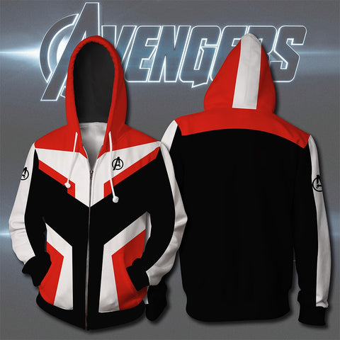 Avengers Endgame Quantum Realm Sweatshirt Jacket Advanced Tech Hoodie Cosplay Costumes