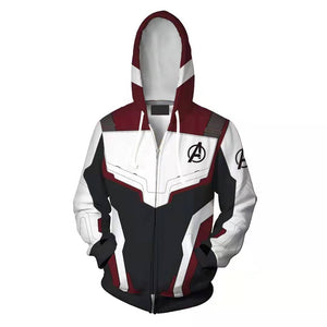 2019 New Avengers Endgame Quantum Realm Sweatshirt Jacket Advanced Tech Hoodie Cosplay Costumes