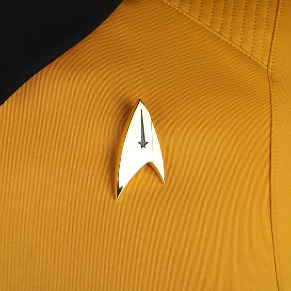 Star Trek Discovery Season 2 Starfleet Captain Kirk Shirt Uniform Badge Costumes Halloween Cosplay Costume