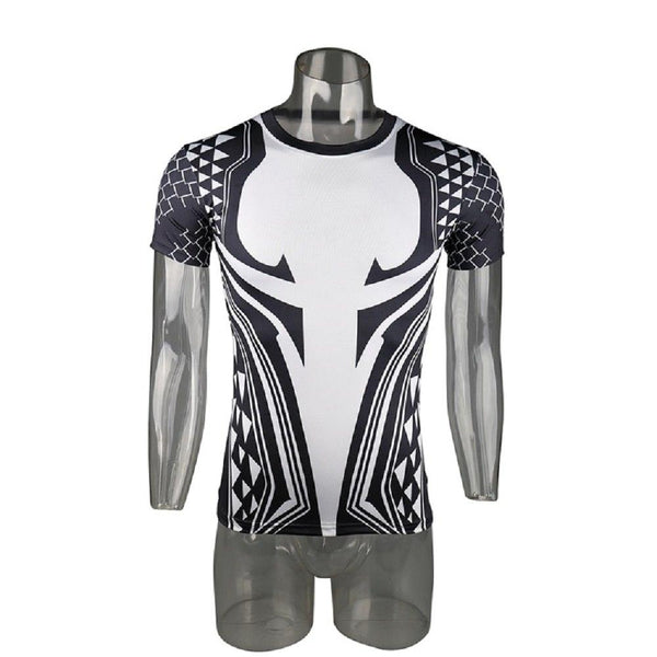 Aquaman 3D Printed T Shirts Men Compression Shirt  Cosplay Costume