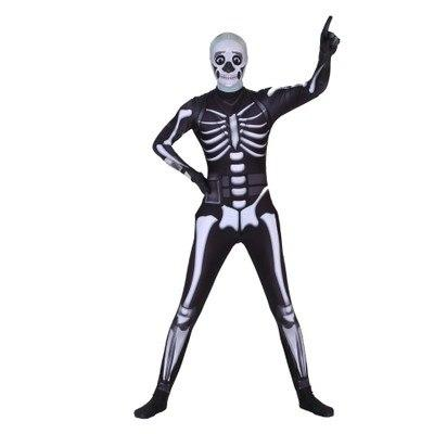 Fortnite Skull Trooper Cosplay Costume Adults Halloween Skeleton Outfit