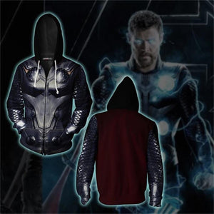 Avengers Endgame Thor Odinson Cosplay Costume Movie Hoodie Sweatshirts