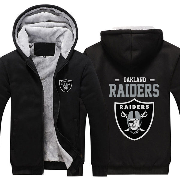 Oakland Raiders Casual Hooded Warm Sweatshirts Male Thicken Tracksuit