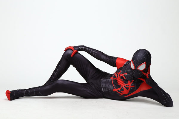 Spider-Man Into the Spider-Verse Miles Morales Cosplay Costume Zentai Jumpsuit Bodysuit