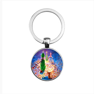How the Grinch Stole Christmas Cosplay Keychain Christmas Gift