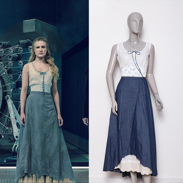 Westworld Season 2 Dolores Blue Dresses Cosplay Costume