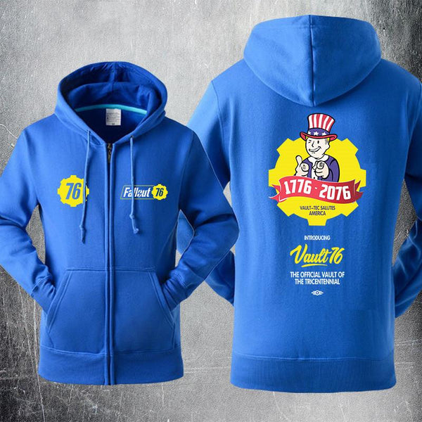 Fallout 4 Sweater Vault 76 Cosplay Hoodies Jacket