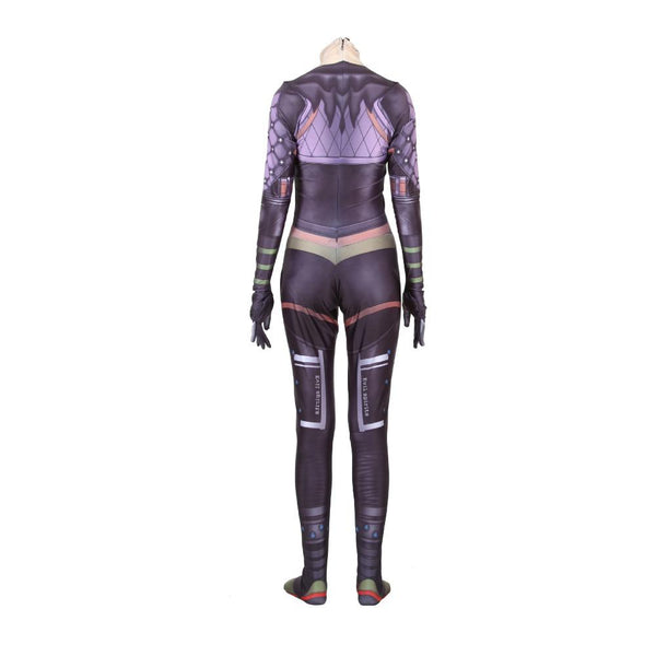New 2019 Game Apex legends Wraith Cosplay Costume Women Girl Role Playing Zentai Spandex Bodysuit Jumpsuit Suits Anime