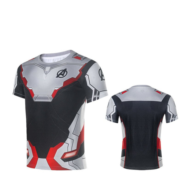 2019 New Avengers Endgame Quantum Realm T-short Tee Man Advanced Tech Top Shirt Cosplay Costumes
