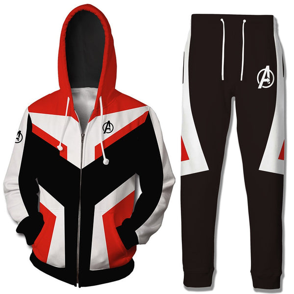 Avengers Endgame Quantum Realm Adult Hoodie Sets Cosplay Costume Sweatshirt Avengers Endgame Cosplay Costumes