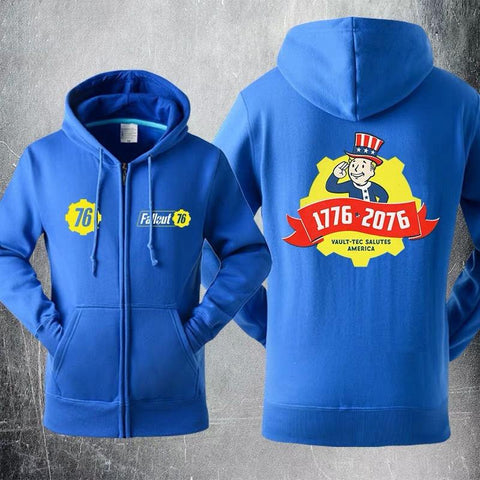 Fallout 4 Vault-Tec Salutes America Sweater Cosplay Hoodies Jacket