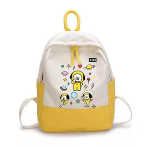 BTS Bangtan Boys BT21 Backpack School Bag Unisex Cosplay Prop