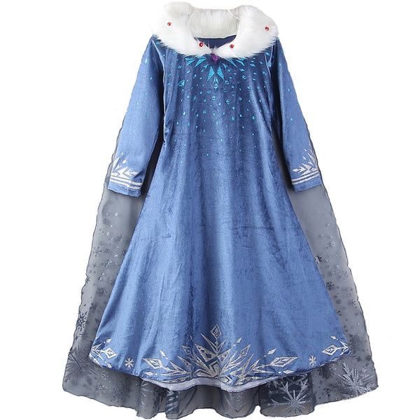 2019 Frozen Aisha Dress Girl Anna Princess Skirt Dress Cosplay Costume For Kids