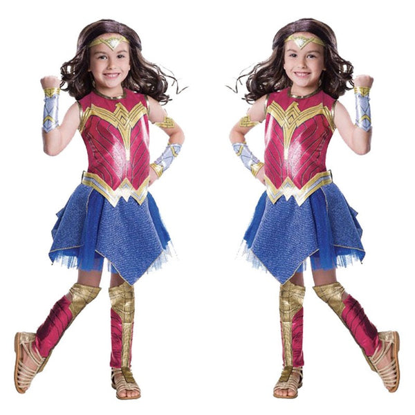 2017 Movie Wonder Woman  Diana Princess Cosplay Dress For Kids
