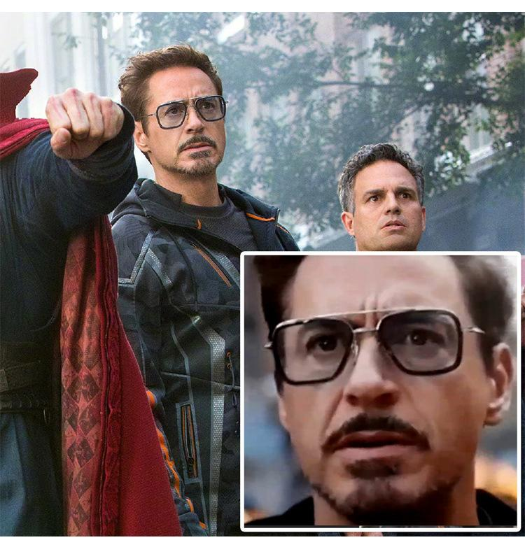 Iron Man Sunglasses Avengers Trends Square Sunglasses cosplay props