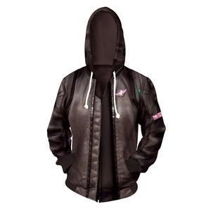 Game Cyber punks 2077 Hoodie Cosplay Costume Thor Sweatshirts Jacket Coat Zipper