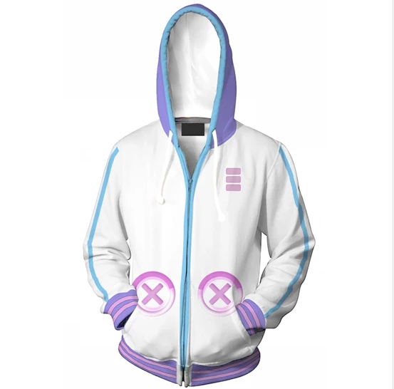 Super Neptunia RPG Sweatshirt Hooded Jacket Halloween cosplay costume