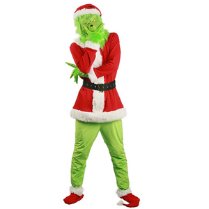 How the Grinch Stole Christmas The Grinch Halloween Party Cosplay Costume
