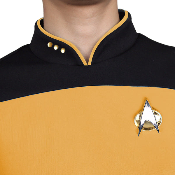 Star Trek TNG The Next Generation  Uniform Shirt Halloween Cosplay Costume