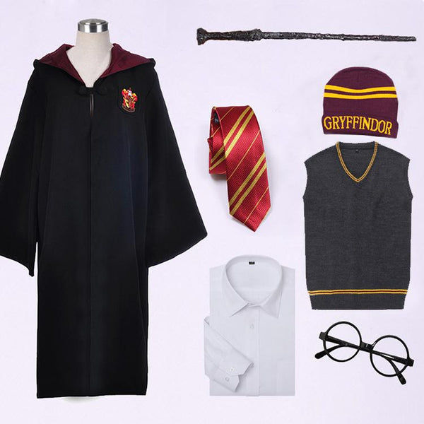 Harri Potter Hermione Granger Gryffindor Cape Cloak Robe Cosplay Costume