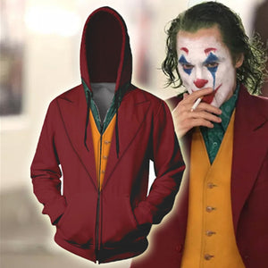 2019 New Movie Joker Hoodie Arthur Fleck Cosplay Costume 3D Printing Sweatshirt Casual clothes
